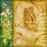 Uitstekende vlindersachtergrond stock illustratie