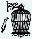 Uitstekende vogelkooien Royalty-vrije Stock Foto's