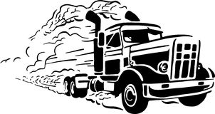 Uitstekende vrachtwagen royalty-vrije illustratie