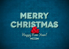 Uitstekende Vrolijke Kerstkaart met krassen Royalty-vrije Stock Foto's