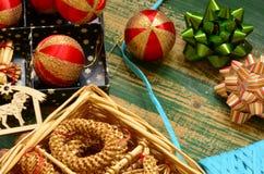 Uitstekende Vrolijke Kerstmisinzameling Stock Fotografie
