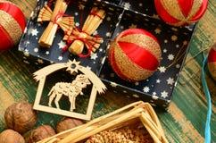 Uitstekende Vrolijke Kerstmisinzameling Royalty-vrije Stock Afbeelding
