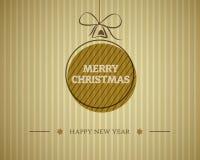 Uitstekende vrolijke Kerstmiskaart Stock Foto