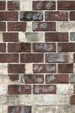 Uitstekende vuile bakstenen muur Stock Fotografie