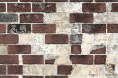 Uitstekende vuile bakstenen muur Stock Foto