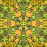 Uitstekende waterverfbanner met mandala De Bloesem van de lente stock illustratie