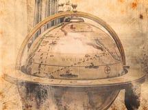 Uitstekende wereldkaart Stock Foto