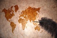 Uitstekende wereldkaart Royalty-vrije Stock Afbeelding