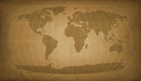Uitstekende wereldkaart Stock Foto's