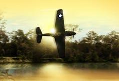 Uitstekende Wereldoorlog 2 de vechtersvliegtuig van de V.S. royalty-vrije illustratie