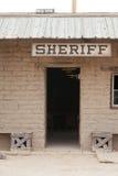Uitstekende westelijke de bouw van het sheriffbureau voordeur royalty-vrije stock foto