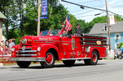 Uitstekende Westenwind, RI Firetruck Royalty-vrije Stock Foto's