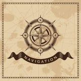 Uitstekende Wind Rose Nautical Compass Stock Foto