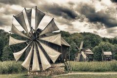 Uitstekende windmolen Royalty-vrije Stock Foto