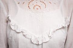Uitstekende witte blouse Stock Afbeeldingen