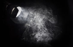 Uitstekende witte lichtstraal van projector Stock Afbeelding