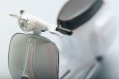 Uitstekende witte Vespa - 6 Royalty-vrije Stock Afbeelding