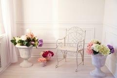 Uitstekende witte woonkamer Royalty-vrije Stock Afbeelding