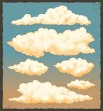 Uitstekende wolken vector illustratie