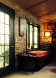 Uitstekende woonkamer Stock Foto's