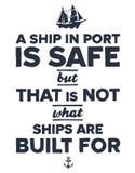 Uitstekende zeevaartillustratie Royalty-vrije Stock Afbeelding