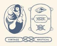 Uitstekende zeevaartreeks vector illustratie
