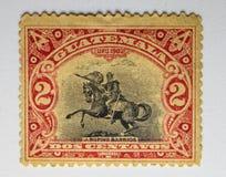 UITSTEKENDE ZEGEL, GUATEMALA 1902 DOS CENTAVOS Royalty-vrije Stock Foto's