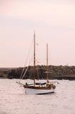 Uitstekende Zeilboot Royalty-vrije Stock Afbeeldingen