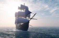 Uitstekende Zeilboot royalty-vrije illustratie