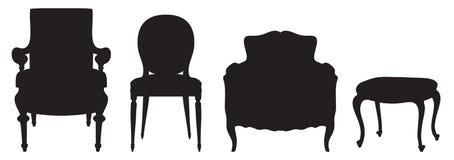 Uitstekende zetels Stock Foto