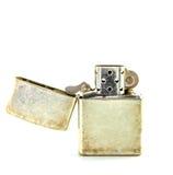 Uitstekende zilveren benzineaansteker  Royalty-vrije Stock Foto