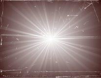 Uitstekende Zonnestraal Stock Afbeelding