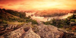 Uitstekende zonsopgang stock afbeelding