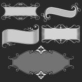Uitstekende zwart-witte banners Royalty-vrije Stock Afbeeldingen