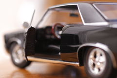 Uitstekende Zwarte Sedan Royalty-vrije Stock Foto's