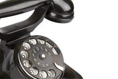 Uitstekende zwarte telefoon Stock Afbeelding
