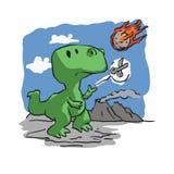 Uitsterven van dinosaurussen grappig beeldverhaal vector illustratie