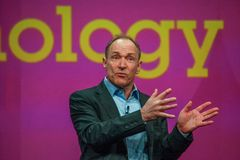 Uitvinder en stichter van World Wide Web Sir Tim Berners-Lee royalty-vrije stock afbeeldingen
