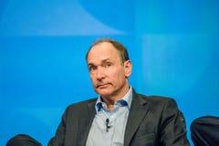 Uitvinder en stichter van World Wide Web Sir Tim Berners-Lee stock afbeeldingen