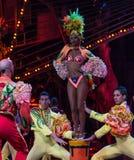 Uitvoerder van Cubaans cabaret Stock Afbeeldingen