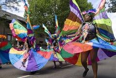 Uitvoerders bij de Notting Heuvel Carnaval 2010 Royalty-vrije Stock Fotografie