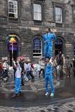 Uitvoerders bij het festival van Edinburgh stock foto's