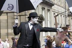 Uitvoerders bij het Festival van Edinburgh royalty-vrije stock afbeeldingen