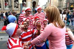Uitvoerders bij het Festival van Edinburgh stock fotografie