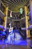 Uitvoerders in circus stock fotografie
