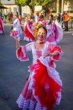 Uitvoerders met kleurrijke en gedetailleerde kostuums stock afbeelding