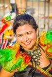 Uitvoerders met kleurrijke en gedetailleerde kostuums royalty-vrije stock foto