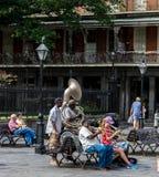 Uitvoerders van de het Kwartstraat van New Orleans de Franse stock afbeeldingen