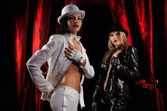 De uitvoerders van het cabaret royalty-vrije stock afbeelding