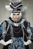 Uitvoerders in Venetiaans kostuum royalty-vrije stock foto's